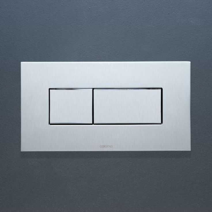 Invisi™ Series II metal rectangular dual flush plate & buttons