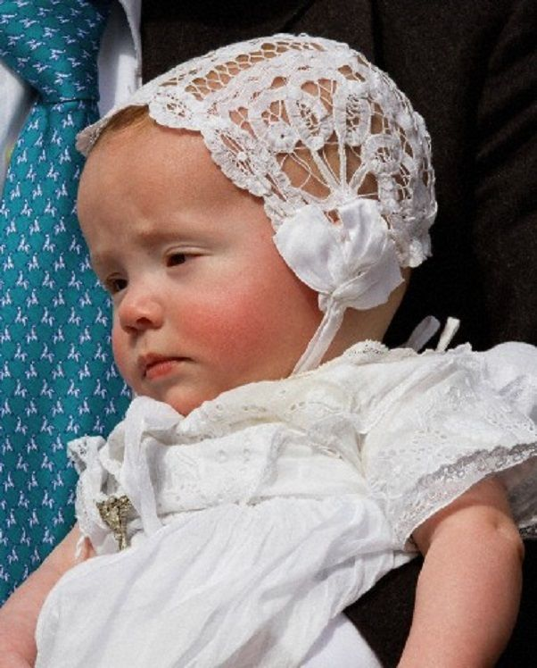 Princess Cecilia Bourbon-Parma during her christening in the Cathredral of Piacenza, 05.04.14.