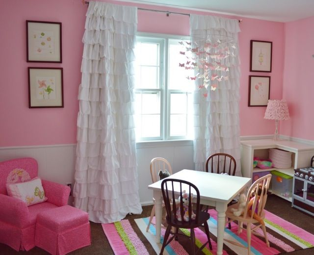 pink girls room s insists that she needs a carnation. Black Bedroom Furniture Sets. Home Design Ideas