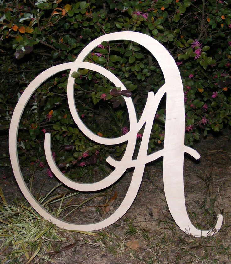 24 Large Wooden Wall Letters Monogram by