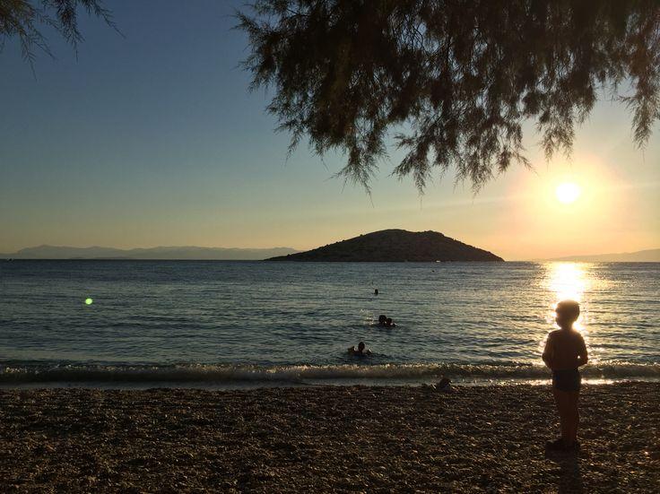 Child gazing. #sea #greece #colors