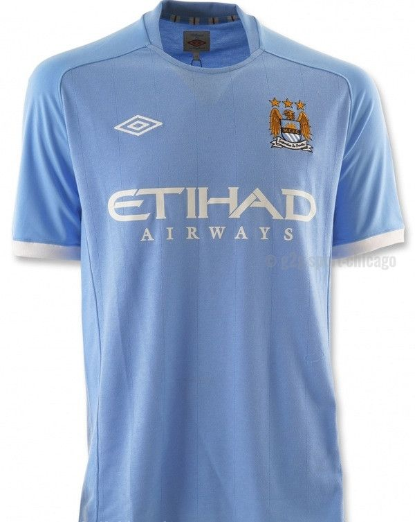 - Official Manchester City Home Jersey 2010-2011 - Official Umbro Apparel - Free 2Day Fedex Shipping - 90 Day Return Policy - Available in Adult XL only