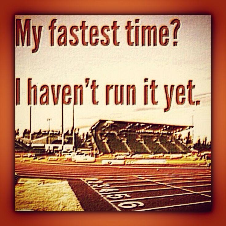 """My fastest time? I haven't run it yet."" #oisellestartinglines #rhebestisyettocome"