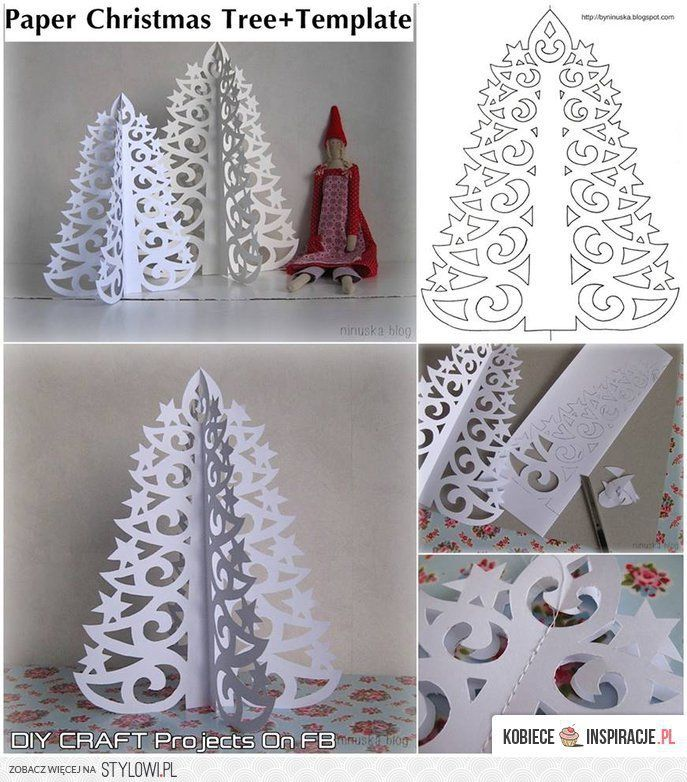 Paper Christmas Tree - Use a heavier paper or card stock.