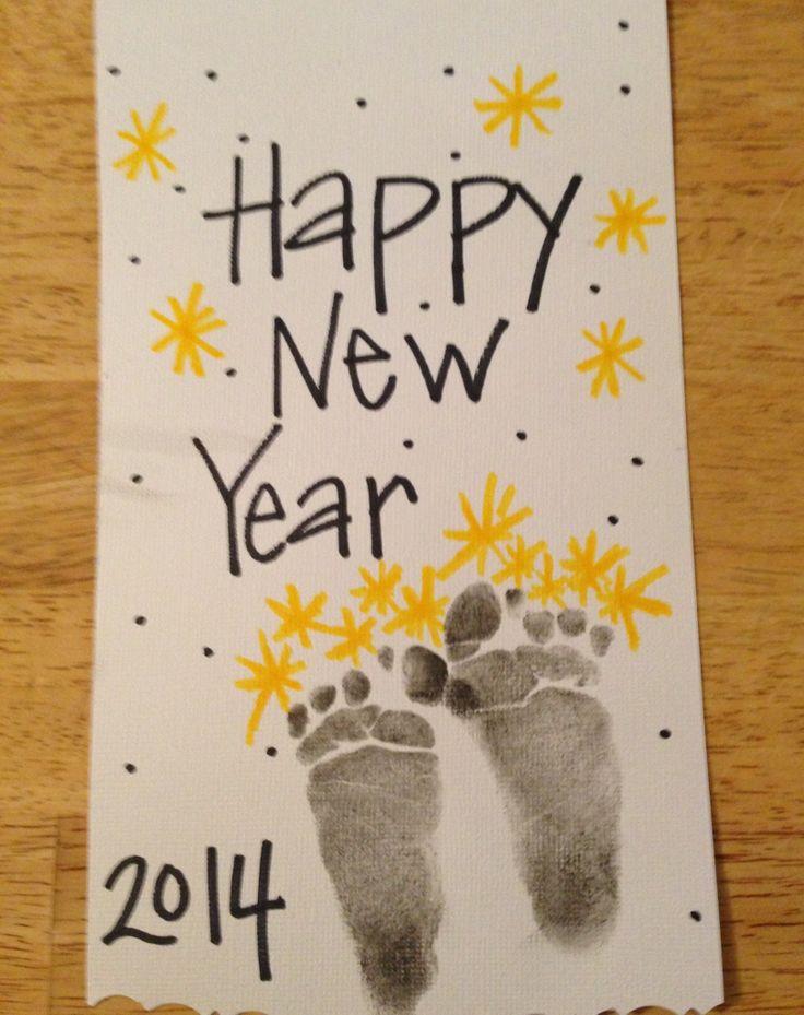 New Year footprints - fireworks