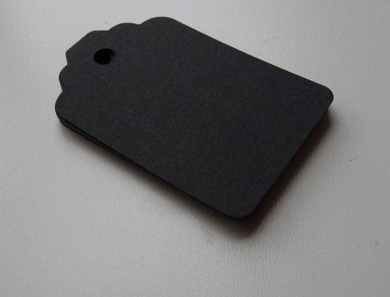 matte black gift tags