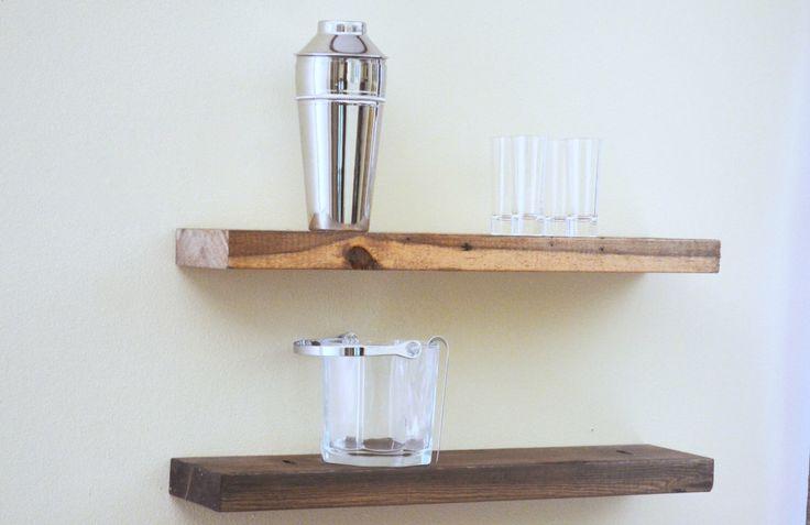 Floating Shelf  - wood floating shelves, decorative shelf, display shelf by ReviveAllHomeGoods on Etsy https://www.etsy.com/listing/238868515/floating-shelf-wood-floating-shelves