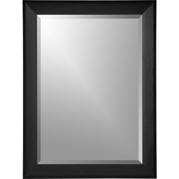 $249Pavillion Black Wall Mirror in Mirrors | Crate and Barrel
