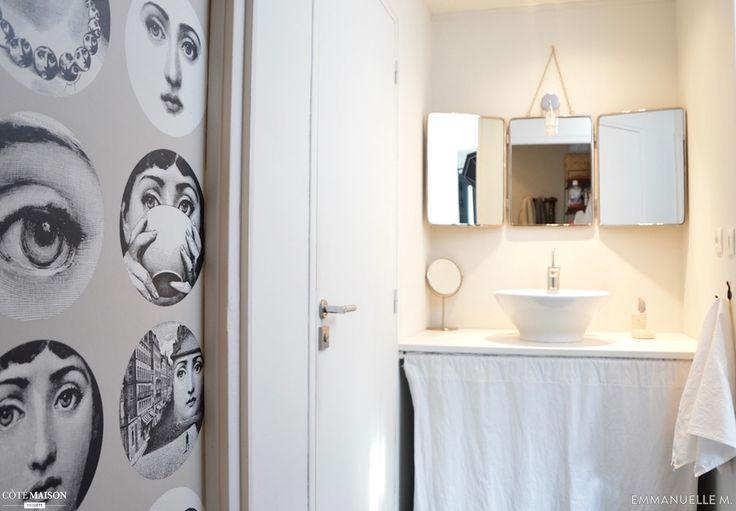 Hop, une mini salle de bains de 5 m2 relookée par la blogueuse Emmanuelle M.