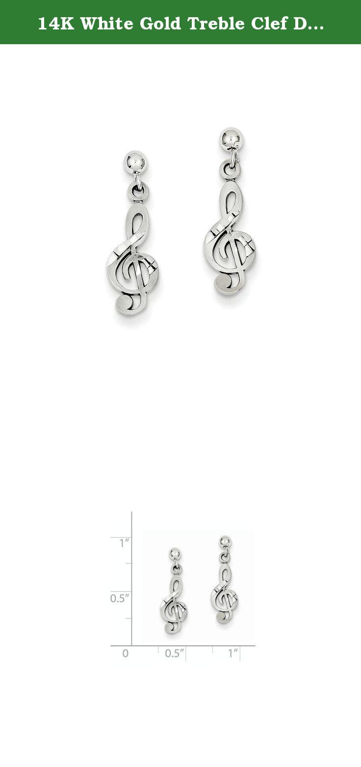 14K White Gold Treble Clef Dangle Post Earrings. Caring For Your Gold Jewelry To keep gold shining and scratch-free, avoid contact with chlorine and other harsh chemicals. Do not wear jewelry during rough work and be sure to store it in a fabric jewelry box or pouch. To clean gold jewelry, use warm water, a mild soap, and a soft-bristled brush, if needed.