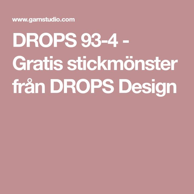 DROPS 93-4 - Gratis stickmönster från DROPS Design