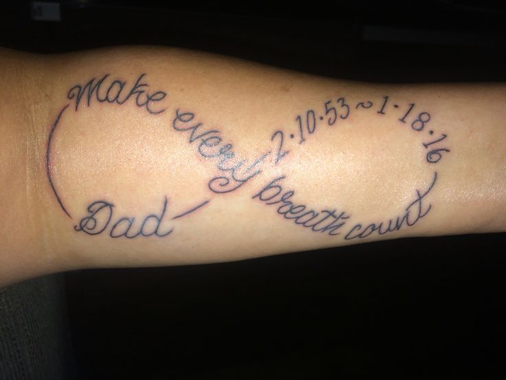 My Idiopathic Pulmonary Fibrosis #IPF #MakeEveryBreathCounttattoo in memory of my dad