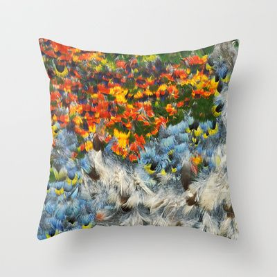 Feathered Throw Pillow by The Play Dough Lady - $20.00