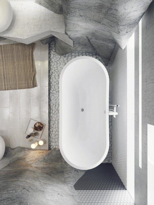 5 luxury bathrooms in high detail bañera