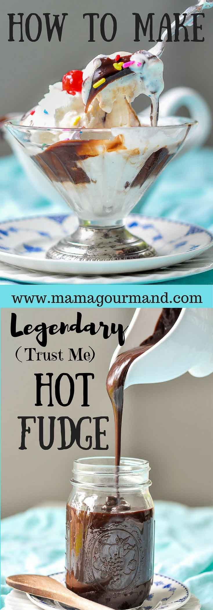 I've been making this legendary homemade hot fudge sauce for years. I've tried others, but this simple, chewy, gooey hot fudge recipe can't be beat! http://www.mamagourmand.com via @mamagourmand