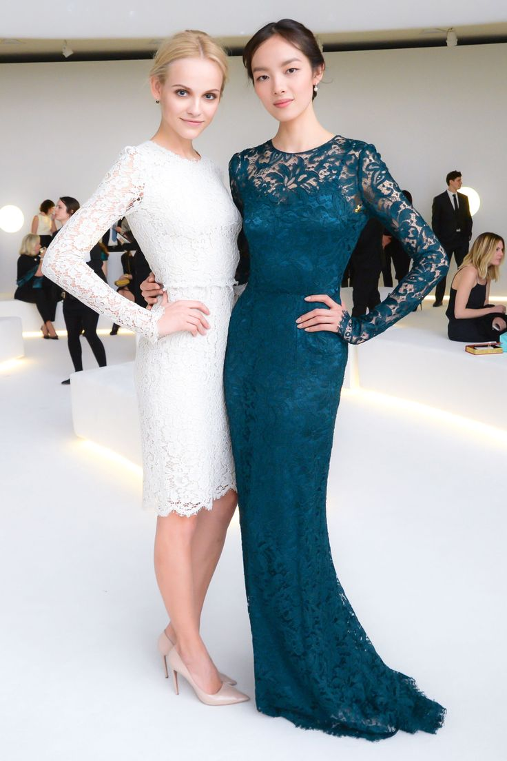 Ginta Lapina and Fei Fei Sun at Tiffany & Co.'s Blue Book Celebration 2014