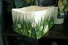 Zobacz zdjęcie papierowa wiklina - Mój trawiasty koszyczek, pomalowany i ozdobiony serwetka ...