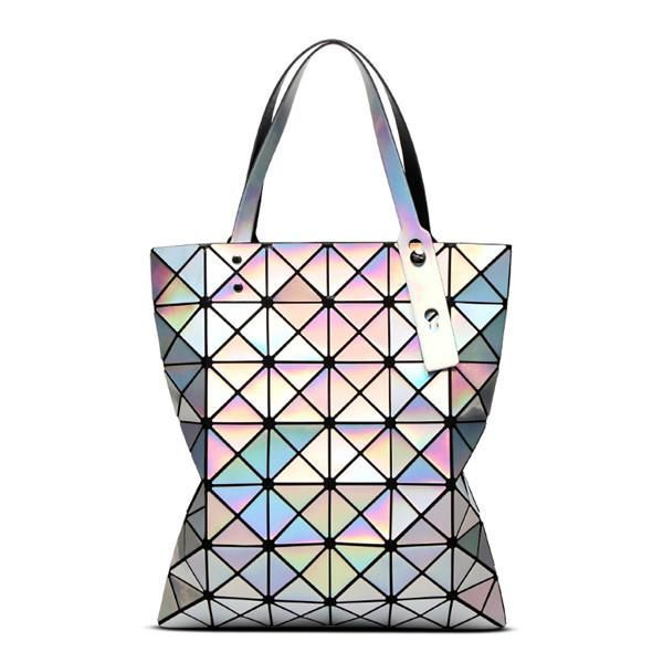 830436b714 Brand New Baobao Women Pearl Bags Mirror Sac Diamond Lattice Tote Geometry  6x7 Quilted Shoulder Bag Handbags with Logo and Tags