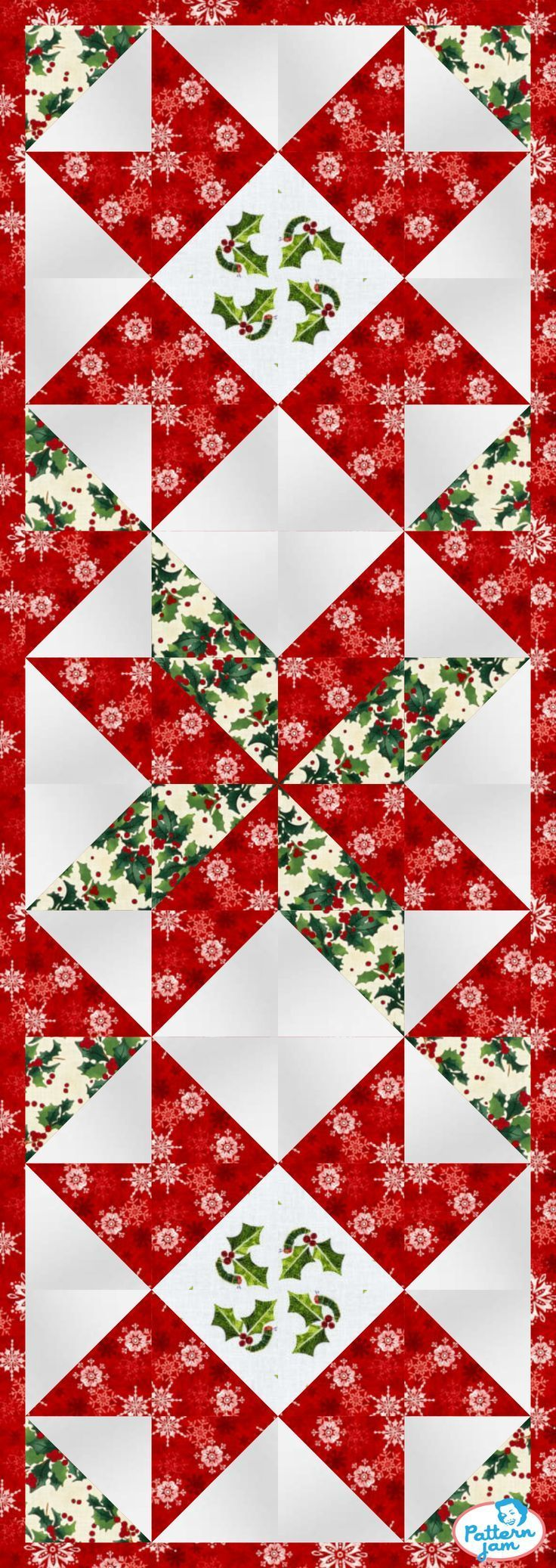 Pin By Lway On Quilts In 2021 Quilted Table Runners Christmas Christmas Table Runner Pattern Christmas Quilt Blocks