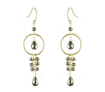 Pyrite fish hook earrings http://www.mounir.co.uk/collections/soiree/4577_pyrite_fish_hook_earrings