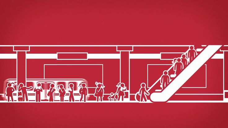 """One day in a busy city. Promo video for """"Metro"""", Polands free daily newspaper. Flat vector animation. Director: Michal Janowski 