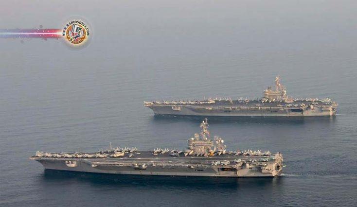 EUA começam patrulha naval no Mar do Sul da China. A frota de porta-aviões da Marinha dos EUA iniciou patrulhamento no Mar da China Meridional.