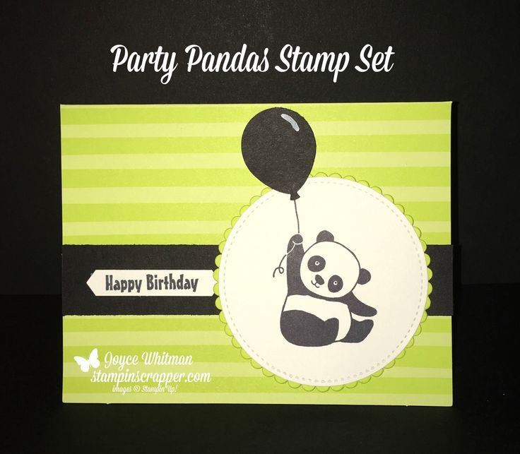 I love the Party Pandas and the Tutti Frutti cards and envelopes from the 2018 Stampin' Up! Sale-A-Bration.  If you want these products you need to hurry, they will be gone after March 31st.   I also used the Classic Label and Balloon Bouquet punches and the Layering Circles and Stithed Shapes Framelits