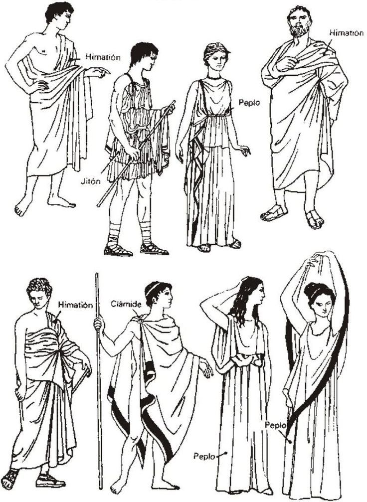 athens clothing coloring pages - photo#2