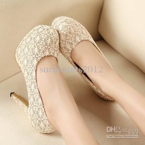 Wholesale Women Ivory High-heeled shoes 2013 Bridal Lace Wedding Shoes Girl dance Party shoes, Free shipping, $34.88-47.2/Piece | DHgate