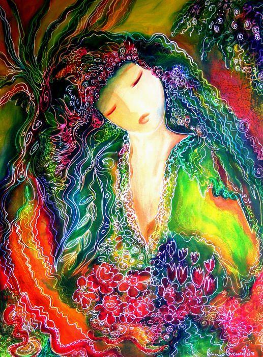 Goddess Of Earth Painting  - Goddess Of Earth Fine Art Print