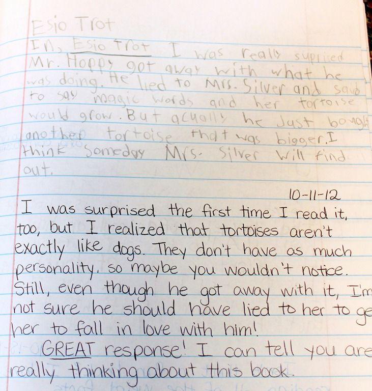 example of reader response essays
