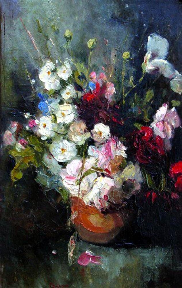 Aurel Baesu-Ulcica cu flori de camp