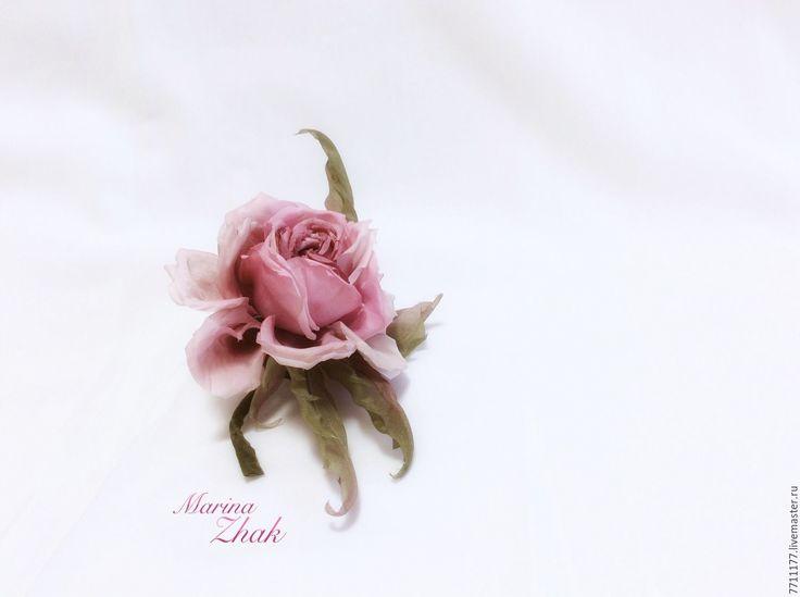"""Купить Шелковая роза """" Николь"""" - бледно-розовый, пыльно-розовый, пыльная роза"""