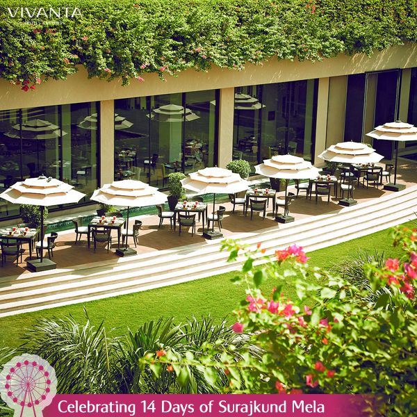 #Day12 Time will freeze as you experience the enchanting Alfresco Dining at Vivanta by Taj - Surajkund.  Know more: http://on.fb.me/1ztW38e #Dining #Surajkund #SurajkundMela #Alfresco #Food