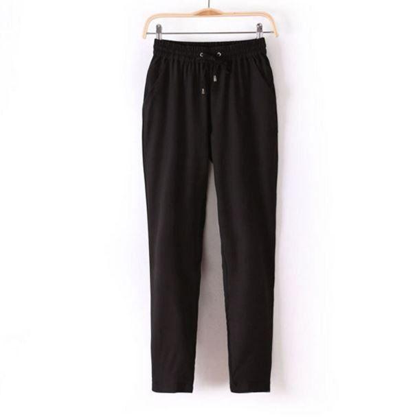 Módní dámské barevné volné pohodlné kalhoty černé – Velikost L Na tento produkt se vztahuje nejen zajímavá sleva, ale také poštovné zdarma! Využij této výhodné nabídky a ušetři na poštovném, stejně jako to udělalo již …
