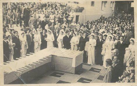 Oμαδικός γάμος εργατριών του ΠΑΠΑΣΤΡΑΤΟΥ.