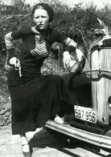Ψ ☠ Ψ.... Bonnie Parker - the real Bonnie & Clyde [1933]
