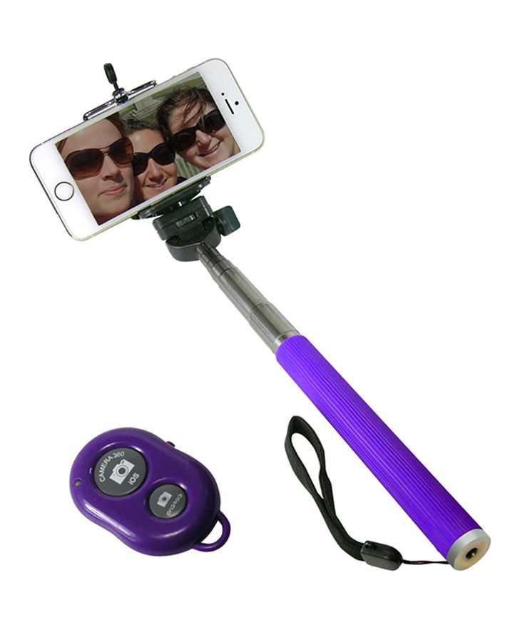 purple camera shutter button selfie stick. Black Bedroom Furniture Sets. Home Design Ideas