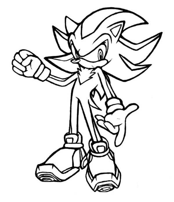 Shadow The Hedgehog Coloring Pages Shadow Sonic Coloring ...
