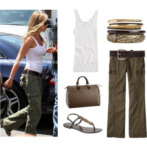 Polyvore: Casual Style, Fashion, Jennifer Aniston, Cargo Pants, Cute Outfits, Spring Summer, Summer Outfits, Polyvore, My Style