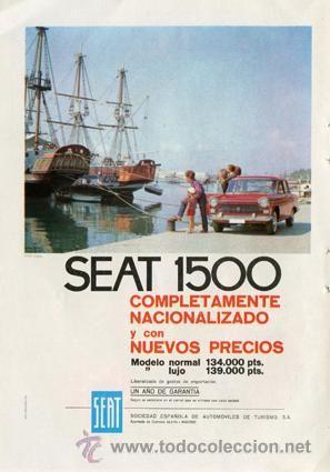 Página Publicidad Original de *SEAT 1500* Agencia Publicidad LOS TIROLESES, S.A. --- Año 1964