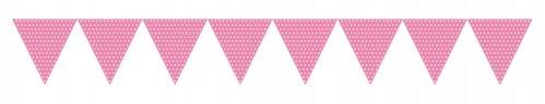 Wimpel Girlande Rosa Kindergeburtstag Mottoparty nach Themen sortiert Farben Party Bonbon Rosa
