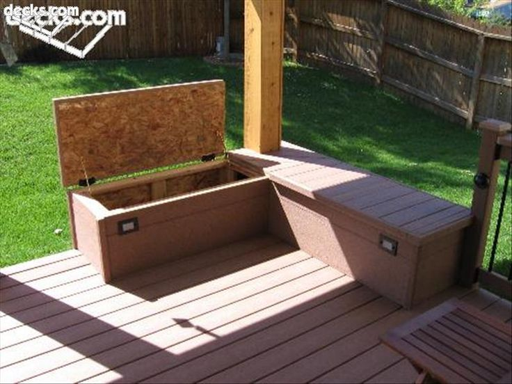 Building built in deck benches nice storage area Deck storage bench