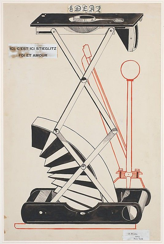 Francis Picabia - Here, This Is Stieglitz Here (Dada)(1915)