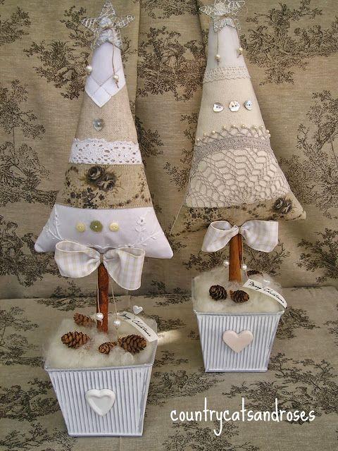 countrycatsandroses: alberi di Natale