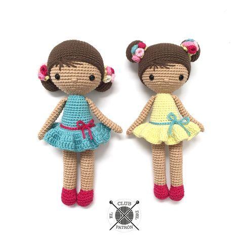 gratis free:El Club del Patrón: Muñeca Chloe      Está realizada con Natura Just Cotton nuestro hilo estrella de algodón mate disponible en 60 colores. Te ofrecemos dos combinaciones de colores pero puedes hacer la tuya propia y hacer tantas Chloes como quieras :-)   MATERIALES  Aguja de ganchillo de 2mm Aguja de tapicería.