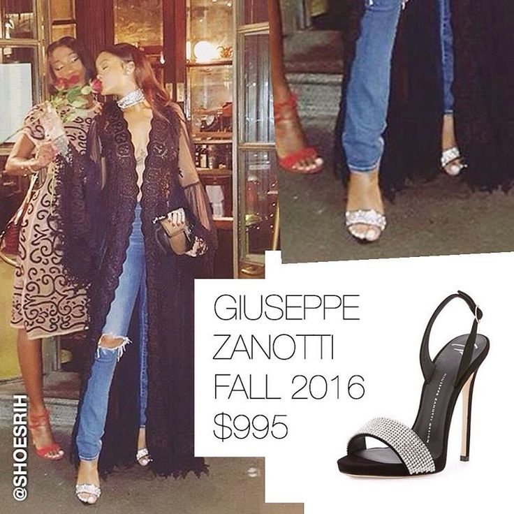 Giuseppe Zanotti black crystal-embellished strappy slingback sandals $995 Fall 2016, @badgalriri