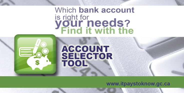 The Bank Account Selector Tool is really cool and a helpful tool on the Financial Consumer Agency of Canada's web site. @FCACan