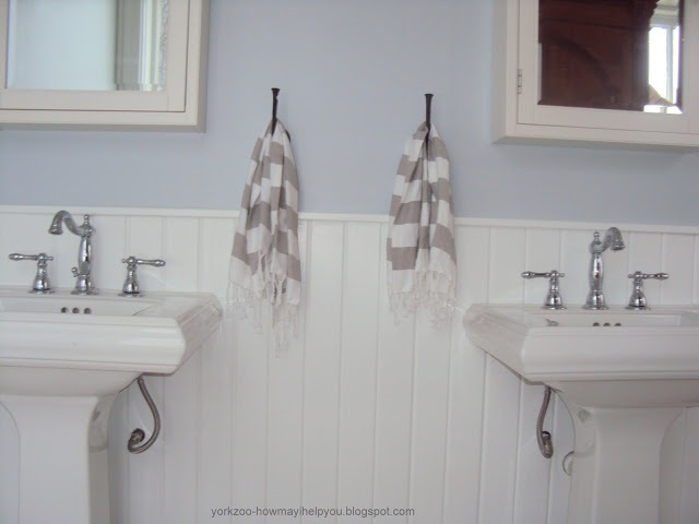 Farmhouse bathroom pb medicine cabinets west elm guest towels double kohler memoir sinks - West elm bathroom storage ...