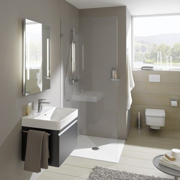 Laufen Pro S White Wall Hung Basin With A Tap Hole 600x380x170mm - Basins - Bathroom